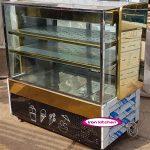 یخچال بستنی فروشی ویترینی استیل طلایی