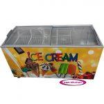 فریزر بستنی فروشی صندوقی با درب کشویی