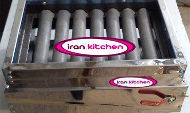 کباب پز استیل خانگی با هفت شعله چدنی