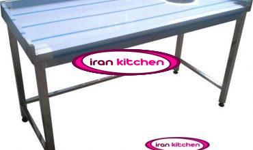 میز استیل صنعتی برنج پاک کنی