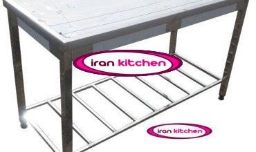 میزکار صنعتی با یک طبقه پاتروکی درشت و پایه