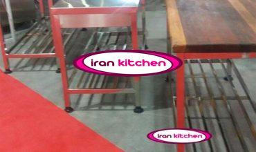میز استیل صنعتی رستورانی با پایه پاتروکی