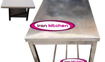 میز کار استیل با تخته تفلون