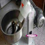 دستگاه کوچک خمیر گیر استیل ۱۵ کیلویی