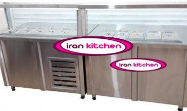 خط کانتر گرم و کانتر سرد سلف سرویس آشپز خانه