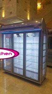 یخچال ایستاده مغازه ۳ درب سیستم نوفراست