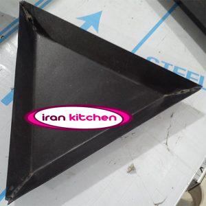 قالب پیتزا مثلث سایز ۲۶ تفلون درجه یک با پهنای لبه ۴ سانتی متر