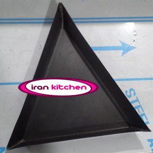 قالب مثلثی پیتزا سایز ۳۰ تفلون درجه یک با پهنای لبه ۴ سانتی متر