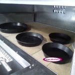 ظروف پیتزا سایز ۲۱سانتیمتر تفلون درجه یک و قطر کف قالب ۱۸ سانتی متر