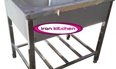 سینک استیل نگیر ضد زنگ دو لگنه آشپز خانه صنعتی