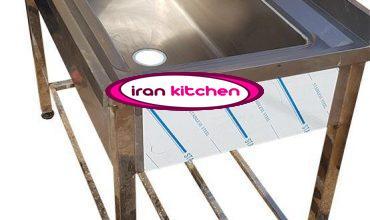 وان استیل صنعتی شستشو دست ساز طول 120 سانتی متر