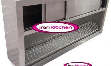 کابینت آبچکان با بدنه استیل خشدار دارای درب کشویی طول ۱۵۰ سانتی متر