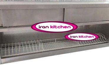 کابینت آبچکان با بدنه استیل خشدار دارای درب کشویی طول 150 سانتی متر