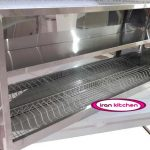 کابینت آبچکان بدون درب استیل خشدار طول 150 سانتی متر