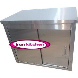 کابینت صنعتی زمینی یک متری استیل آشپزخانه با کیفیت عالی
