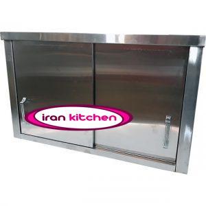 کابینت دیواری آشپزخانه یک متری استیل دارای کیفیت عالی