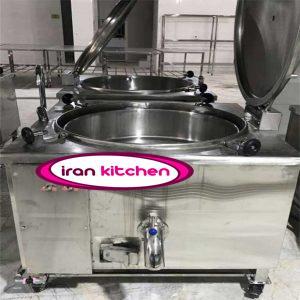 چلوپز طرح مکعبی با قابلیت پخت ۲۸۰ پرس برنج سه جداره