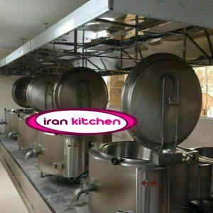 دیگ خورشت پز استیل صنعتی جوشی استوانه ای دارای ظرفیت ۳۰۰ لیتر