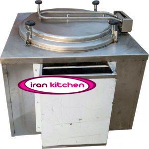 دیگ خورشت پزی مکعبی پرسی صنعتی دارای سایز ۲۵۰ لیتر