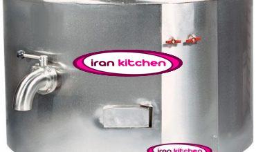 دیگ استوانه صنعتی خورشت پز سایز ۱۰۰ لیتر جوشی
