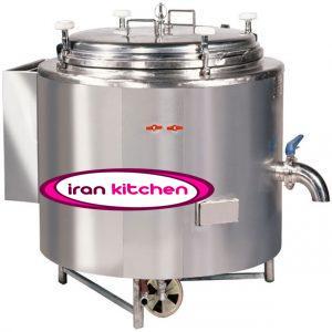 دیگ صنعتی برای پخت برنج استوانه ای جوشی سایز ۱۷۰ لیتر