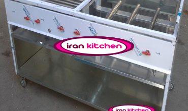 فر مرکب چهار کاره ساندویچی دارای گریل و سرخ کن و چرخ