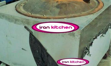 تنور نانوایی ساج چدنی دارای بدنه استیل با دودکش گاز با کیفیت بالا