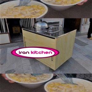 دستگاه ذرت مکزیکی به صورت بخار پز دارای میز استیل و چوبی با کیفیت عالی