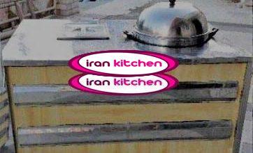 دستگاه ذرت مکزیکی به صورت بخار پز دارای میز استیل و چوبی