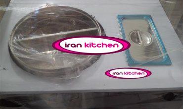 دستگاه ذرت مکزیکی دارای بدنه چوبی و میز استیل و دارای چرخ با کیفیت بالا