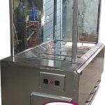 دستگاه مرغ بریان ذغالی دارای 10 سیخ و هود و شیشه با کیفیت عالی و بالا