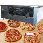 فر آجری پیتزا به صورت صندوقی دیجیتال 12 بشقاب طرح چپ دست با کیفیت بسیار بالا