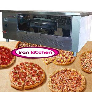 فر آجری پیتزا به صورت صندوقی دیجیتال ۱۲ بشقاب طرح چپ دست با کیفیت بسیار بالا