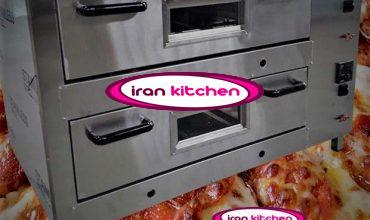 فر اتوماتیک تنوری پیتزا به صورت صندوقی و دو طبقه