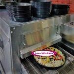 فر پیتزا به صورت ریلی قابلیت پخت 90 پیتزا با کیفیت بسیار بالا