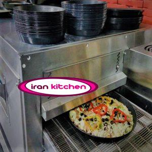 فر پیتزا به صورت ریلی قابلیت پخت ۹۰ پیتزا با کیفیت بسیار بالا