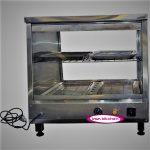 گرمکن شیشه ای فست فود مرغ سوخاری رو میزی با کیفیت بسیار بالا
