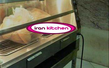 دستگاه گرمخانه دیسپلی مرغ سوخاری