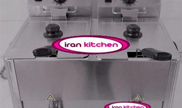 دستگاه سرخ کن رومیزی برقی دو لگنه با کیفیت بسیار بالا